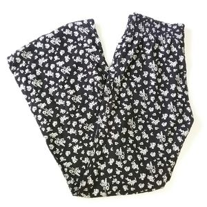 Divided by H&M Black & White Floral Pants